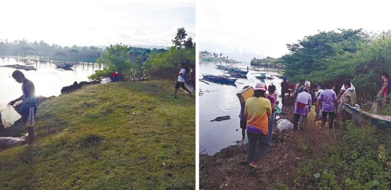 CLEANING COAST. Members of different fisherfolk associations join the coastal cleanup initiated by the the Bureau of Fisheries and Aquatic Resources 7-Siquijor Provincial Fishery Office in Barangays Tinago and Caticugan, Siquijor town on Aug. 18, 2021. / BFAR 7 FACEBOOK PAGE