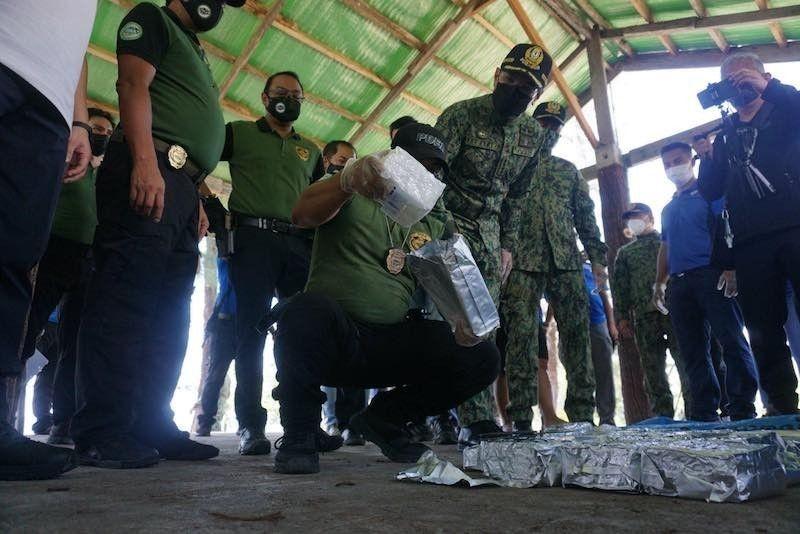 ZAMBALES DRUG BUST. Authorities seize some P3.4 billion worth of shabu in Zambales. (Contributed photo)