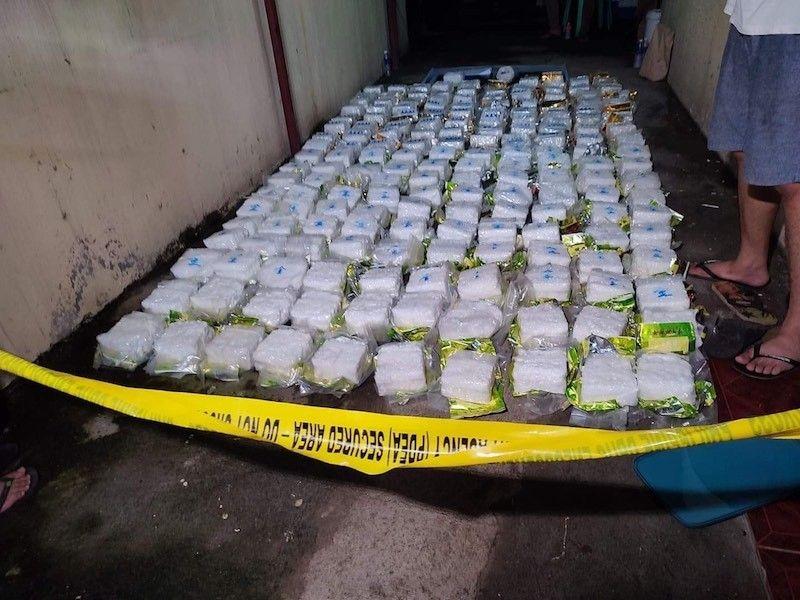 CAVITE. Anti-drug operatives recover over P1.25 billion worth of shabu on Sept. 9, 2021. (Cavite Police Provincial Office)