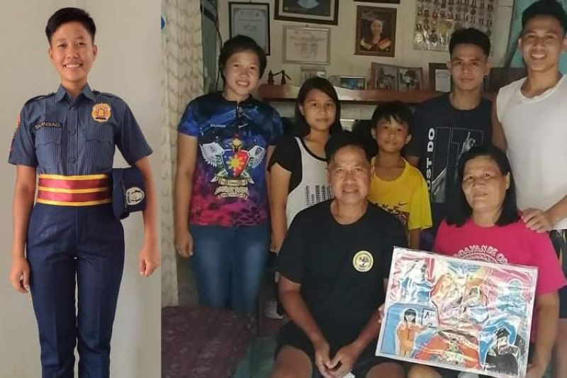 From a 4Ps beneficiary to a policewoman (Photos from DSWD 7)