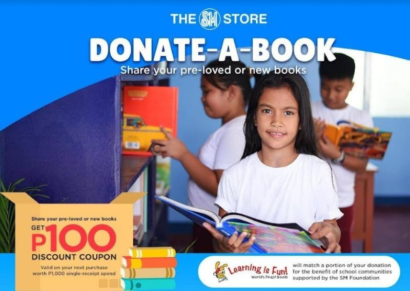 BACOLOD. The SM Store accepts donations of pre-loved and new books until September 30, 2021. (Contributed photo)