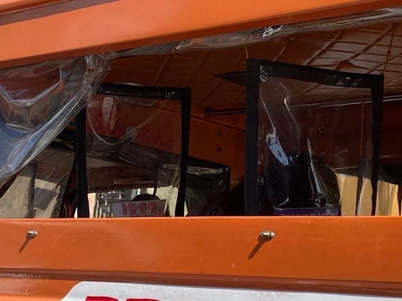 CEBU. Plastic barriers are installed in public utility jeepneys as a measure against Covid-19. (MVI/SunStar Philippines)