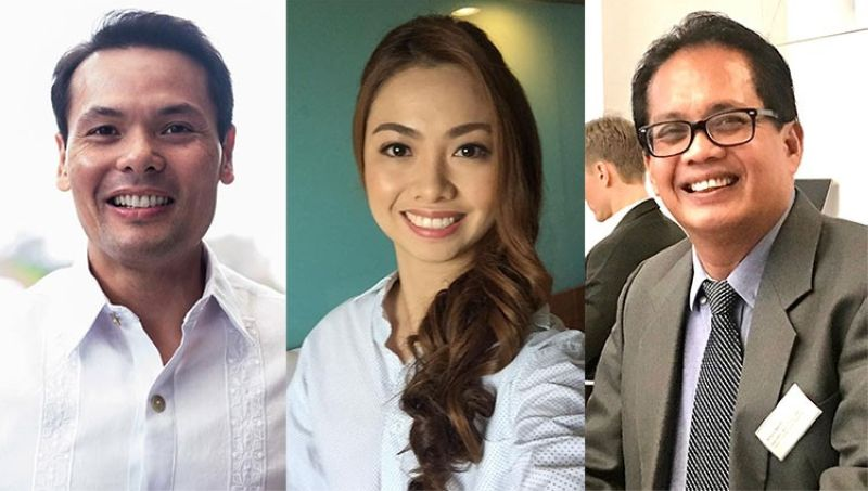CEBU. (From left) Ace Durano, Rhea Aquino-Gullas and Arturo Barrit. (Photos from their Facebook accounts)