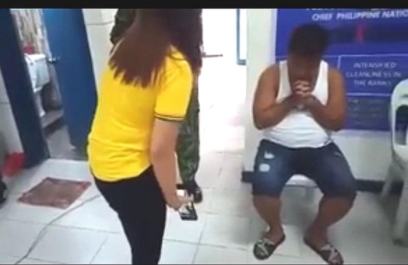 gikan sa video grab sa Minglanilla police