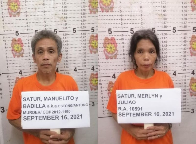 MISAMIS ORIENTAL. Authorities arrest two high-ranking officials of the New People's Army in Barangay Alagatan, Gingoog City, Misamis Oriental. (Contributed photos)