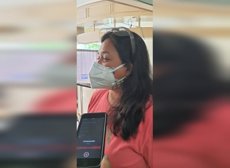 BACOLOD. Nurse Honeyleen Casumpang expresses dismay on the non-release of their benefits and is planning to have an early retirement. (APN photo)