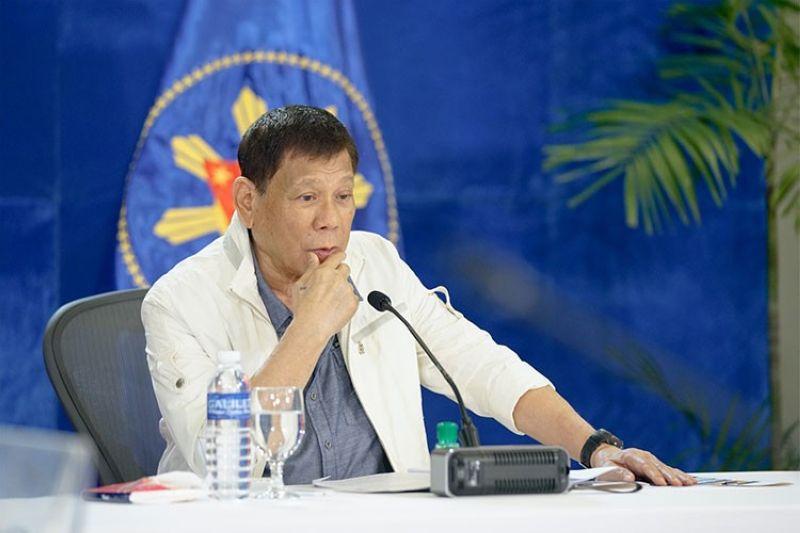 MANILA. President Rodrigo Duterte during his Talk to the People address Monday evening, September 20, 2021. (Presidential Communications photo)