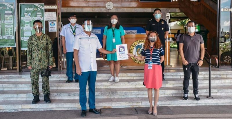 NEGROS. The San Carlos City Hall obtains a safety seal certification from the Department of the Interior and Local Government on September 21, 2021. (Contributed Photo)
