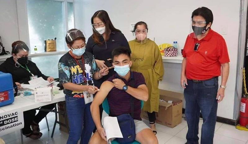 Major Evelio Leonardia encourages the public anew to have themselves vaccinated against Covid-19. (Contributed Photo)