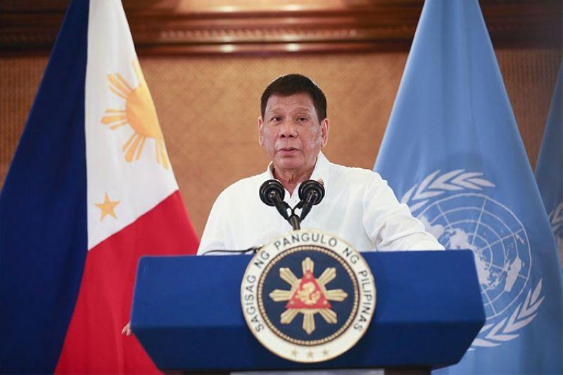 MANILA. President Rodrigo Duterte attends the 76th Session of the United Nations General Assembly High-Level General Debate on September 22, 2021. (Presidential Communications)