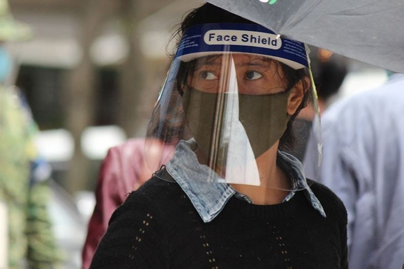 BAGUIO. The wearing of face mask and face shield is now required in all public places in the Philippines. (Jean Nicole Cortes/SunStar Baguio File)