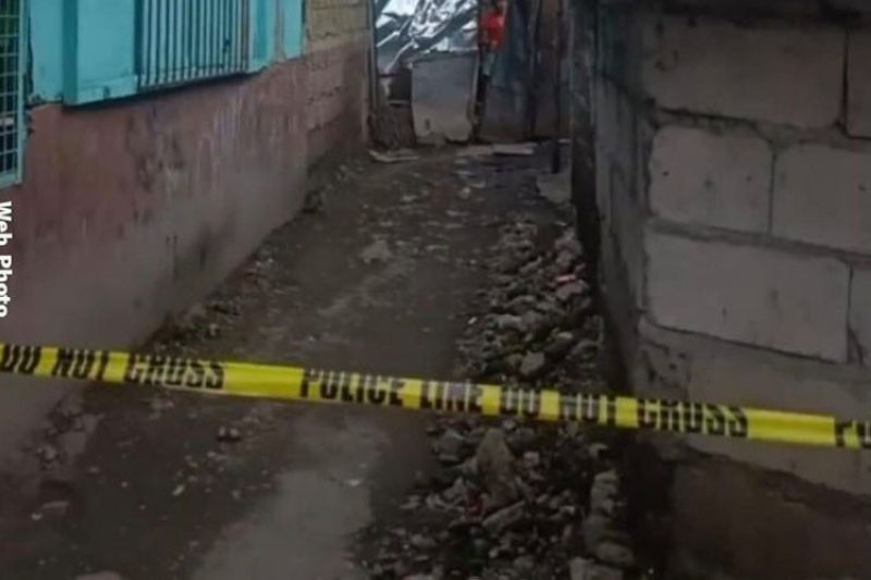 The area where pedicab driver, Lito Barbon, was shot dead Wednesday, September 22. (RMN Bacolod Photo)