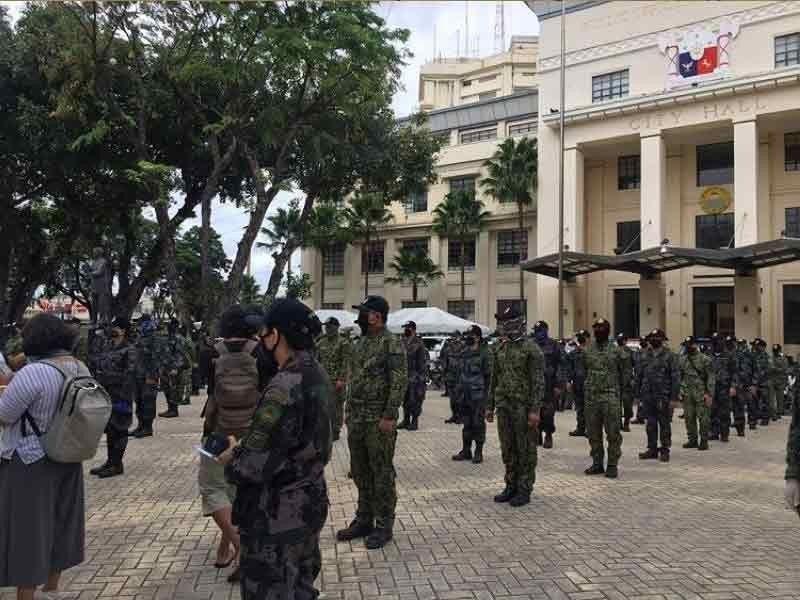■ PWERSA SA CCPO: Ang 95 porsiyento sa kinatibuk-ang pwersa sa Cebu City Police Office (CCPO) kompleto na sa bakuna batok sa coronavirus disease 2019 (Covid-19). / SunStar File