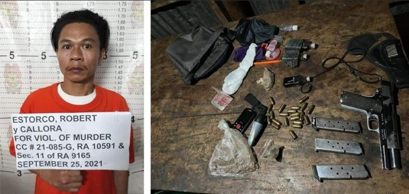 NEGROS. Some of the items recovered during the arrest of suspected NPA member Roberto Estorco in negros Oriental over the weekend. (Contributed photo)