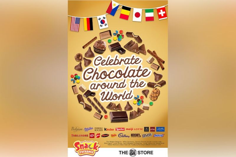 CAGAYAN DE ORO. Explore the world with chocolate as The SM Store's Snack Exchange celebrates Chocolate Around the World. (Contributed photo)