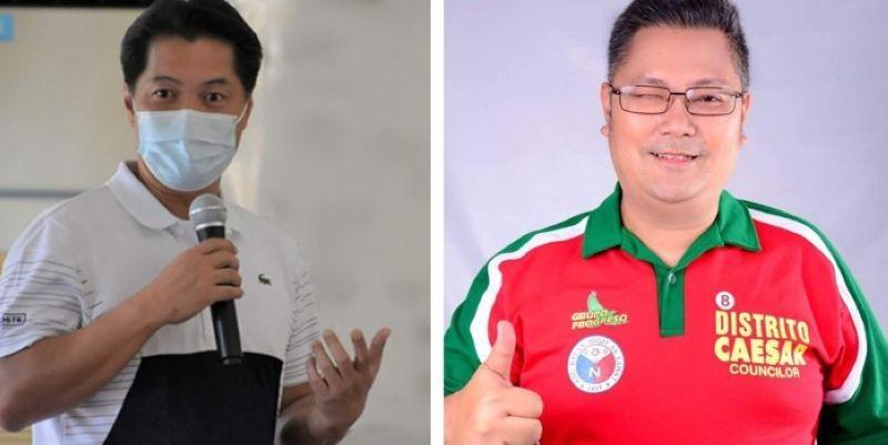 BACOLOD. Former congressman Albee Benitez (left) and former Bacolod City councilor Caesar Distrito. (File photo)