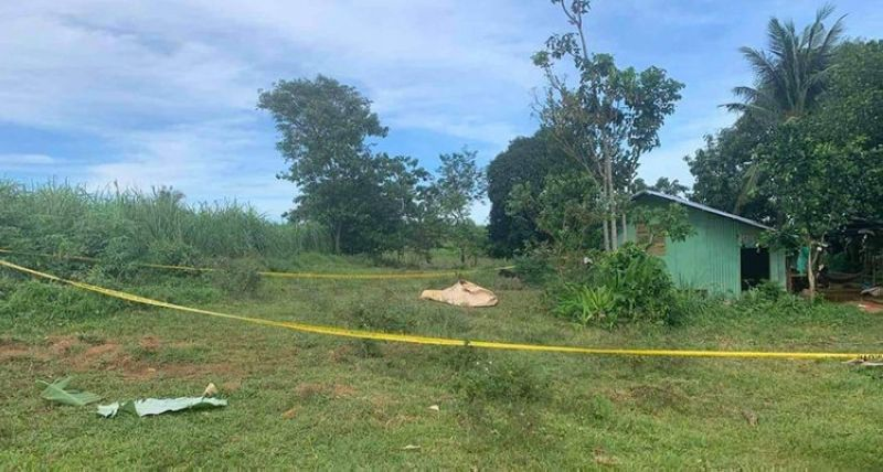 NEGROS. Portion of the area Builder, Barangay San Pablo in Manapla town, Negros Occidental where suspected rebels clashed with government forces Thursday, September 30. (Contributed photo)