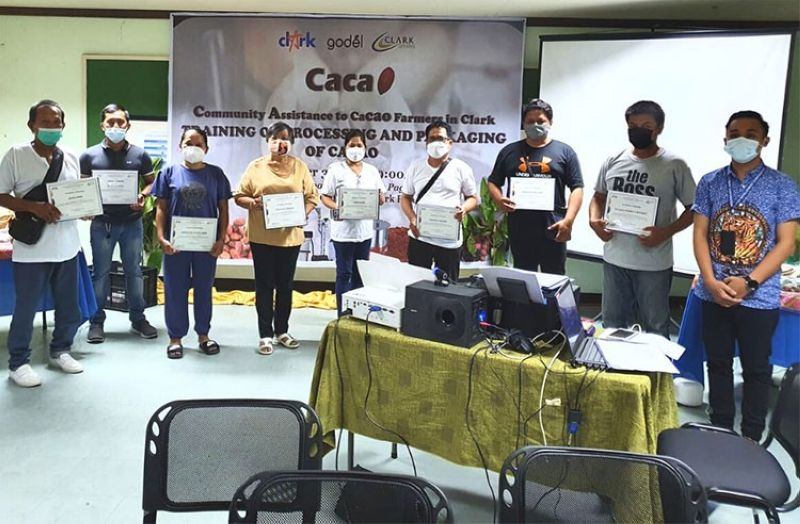 TRAINING COMPLETED. Clark Development Corporation's (CDC) livelihood program has benefitted 25 cacao farmers from Bamban, Tarlac. The community assistance activity was organized by CDC-Corporate Social Responsibility and Placement Division at the Clark Skills and Training Center. (CDC-CD)