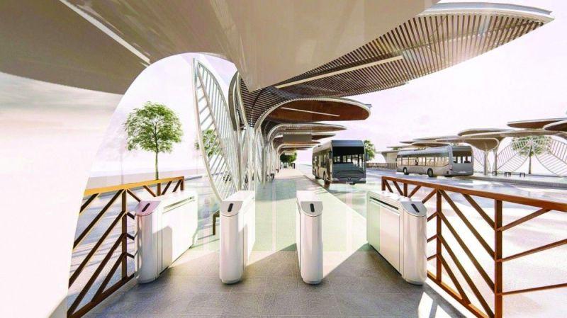 OPAV'S BRT. This is the design of the Cebu Bus Rapid Transport (BRT) system the Office of the Presidential Assistant (Opav) sent to SunStar Cebu Thursday, Oct. 7, 2021.