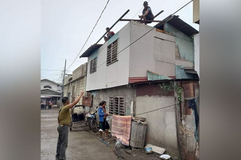 TWISTER. Twenty-seven houses were destroyed Sunday, October 10, by twister spawned by the southwest monsoon enhanced by Tropical Storm