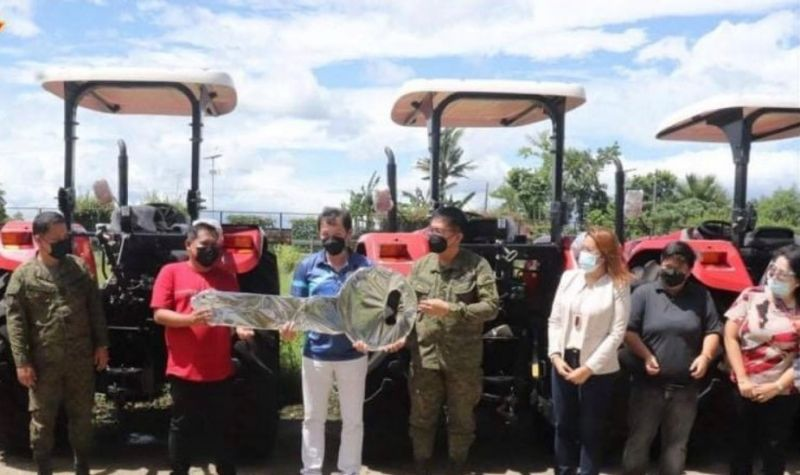 NEGROS. Seven barangays of Escalante City receive farm tractors from the National Task Force in Ending Local Armed Conflict on Monday, October 11, 2021. (Contributed Photo)