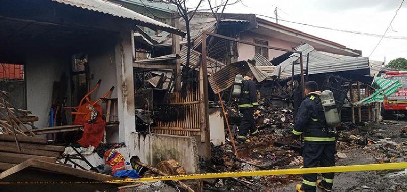 More than P700-K razed in Antique public market fire (Photo from: Lauaan Firestation)