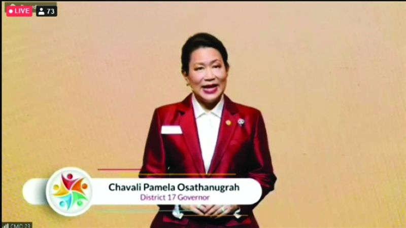 WELCOME. District governor Chavali Pamela Osathanugrah of Zonta Club of Bangkok 2 gave the welcoming remarks.
