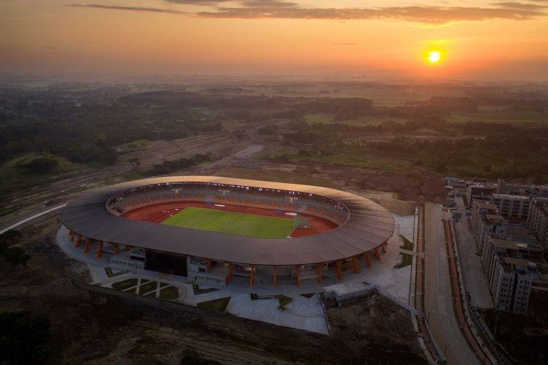 INTERNATIONALLY ACCREDITED. The internationally accredited Athletics Stadium at New Clark City in Capas, Tarlac. (BCDA)
