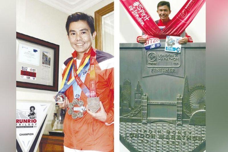 "PRIDE. Supreme marathoner Dr. Potenciano ""Yong"" S.D. Larrazabal. / Contributed"