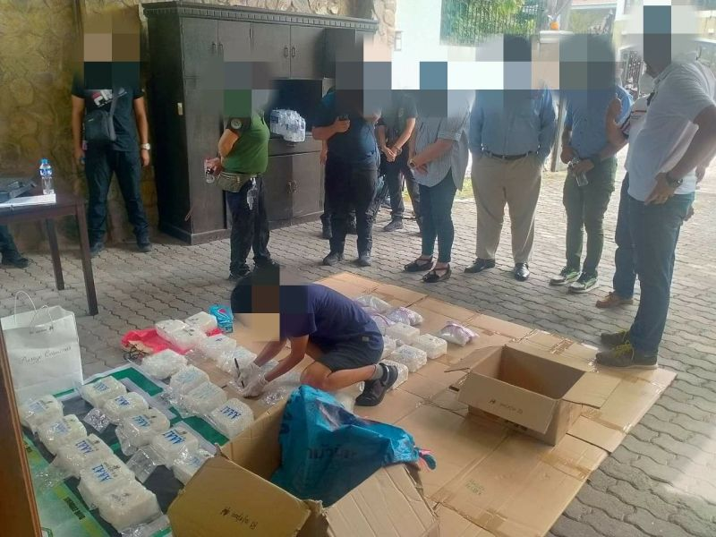 SEIZED SHABU. Authorities conduct an inventory of the P262,200,000 worth of shabu seized during an operation in Angeles City on Oct. 18 where four Chinese nationals were killed. (PDEA Central Luzon)