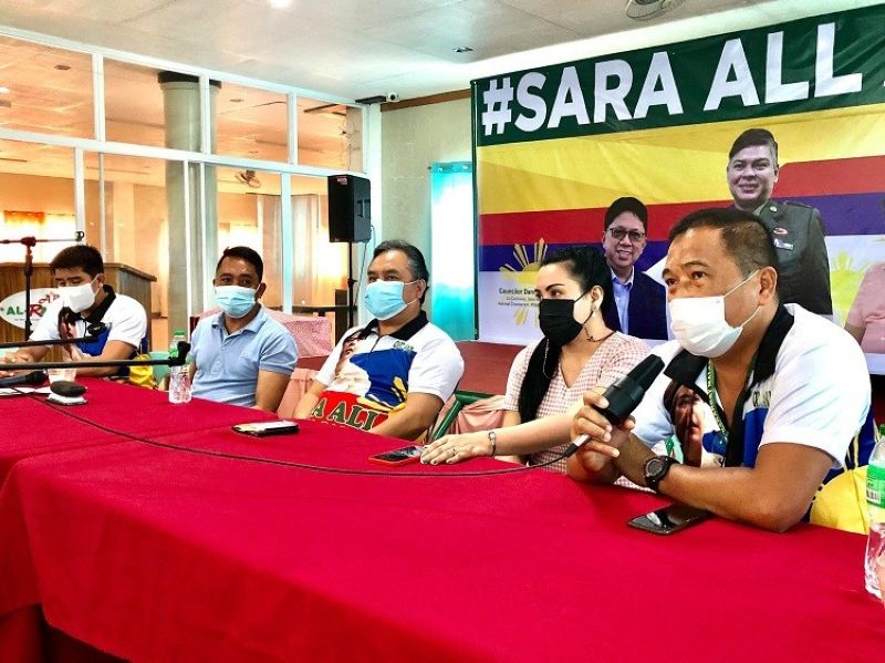DAVAO. Ang press conference nga gihimo sa Sara All Philippines 2022 sa usa ka motel sa Davao City Miyerkules, Oktubre 20, 2021. (Jeepy P. Compio)
