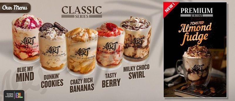 The Art of Pudding Classic and Premium Series Selection