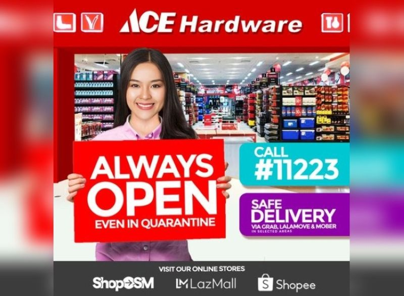 ACE Hardware stores continuously serve customers online and offline. (Contributed photo)