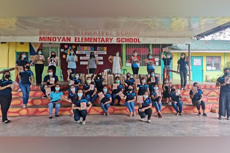 NEGROS. EDC school supply distribution at Minoyan Elementary School in Murcia town, Negros Occidental on October 22, 2021. (Contributed photo)