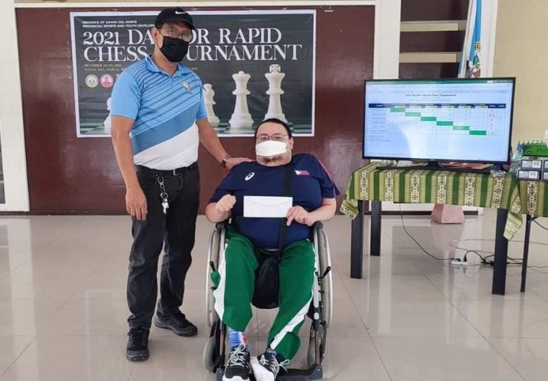DAVAO. Asean Para Games veteran and newly minted National Master Henry Lopez scored recently an unbeaten run and won in the 2021 DavNor Rapid Tournament. (Contributed photo)
