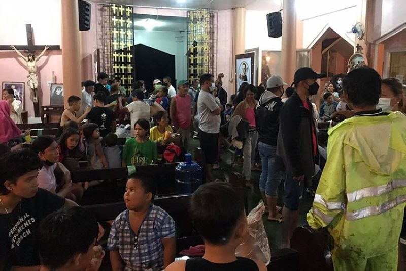The victims were evacuated and are currently being housed at St. James the Apostle Church and the Deo Durano Sports and Cultural Complex. (Contributed photo)