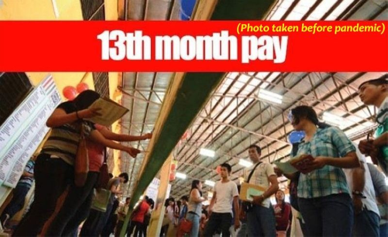 13th month pay to depend on days of actual work (File photo)