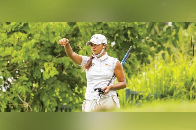 WINNER. Princess Superal will be looking to keep her win streak going when the Pilipinas Golf Tournaments Inc.'s Ladies Philippine Golf Tour returns next month. / PGT
