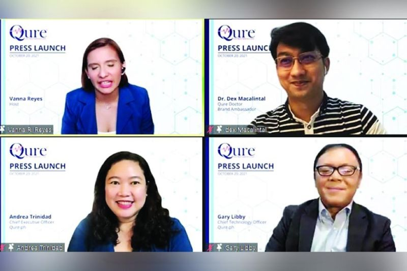 LAUNCHING. Qure.ph offers a free platform for doctors who want to expand their services via teleconsultation amid increasing demand for virtual consultation. Qure was officially launched on Oct. 20, 2021. / QURE.PH